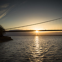 Buy canvas prints of Humber Bridge Sunset  by Pixel Dome