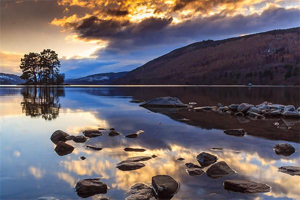Loch Tay winter sunset Canvas print by Archie Mclaren