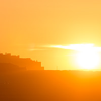 Buy canvas prints of Bamburgh Castle Sunset by Andy McGarry