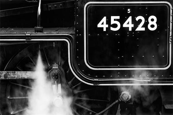 steam train 45428 on nymr Canvas print by Martin Tyson