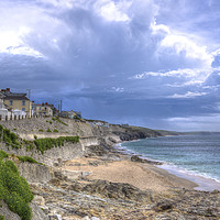 Buy canvas prints of Storm approaching Porthleven by Malcolm McHugh