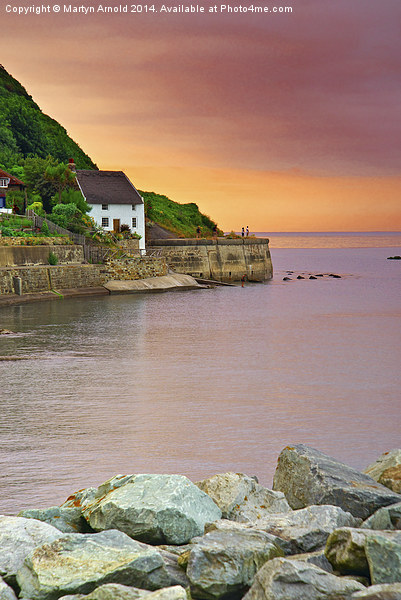 Evening over Runswick Bay Yorkshire Canvas print by Martyn Arnold