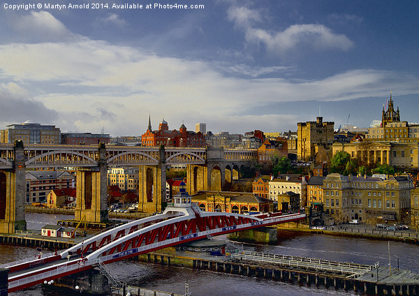 Newcastle Cityscape and Tyne Bridges Canvas print by Martyn Arnold