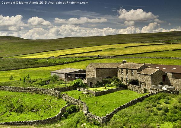 Swaledale Farm Canvas print by Martyn Arnold