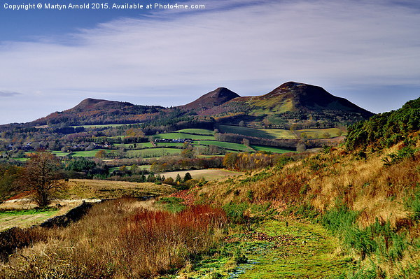 Eildon Hills from Scott's View, Melrose Scottish  Framed Mounted Print by Martyn Arnold