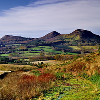 Buy canvas prints of  Eildon Hills from Scott's View, Melrose Scottish  by Martyn Arnold