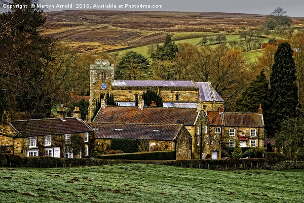 Lastingham Church and Village Yorkshire Canvas print by Martyn Arnold