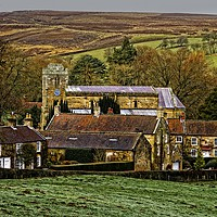 Buy canvas prints of Lastingham Church and Village Yorkshire by Martyn Arnold