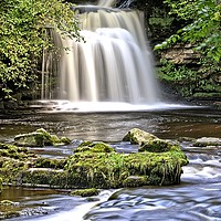 Buy canvas prints of Cauldron Falls at West Burton by Martyn Arnold