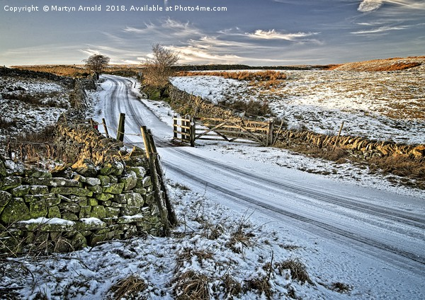 Winter Snow in Weardale Canvas print by Martyn Arnold