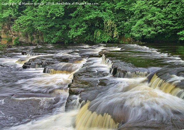 RIver Swale Waterfall, Richmond Yorkshire Canvas print by Martyn Arnold