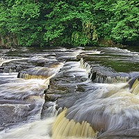 Buy canvas prints of RIver Swale Waterfall, Richmond Yorkshire by Martyn Arnold
