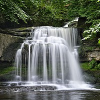 Buy canvas prints of West Burton Waterfall, Wensleydale,Yorkshire Dales by Martyn Arnold