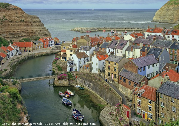 Staithes, North Yorkshire Canvas print by Martyn Arnold