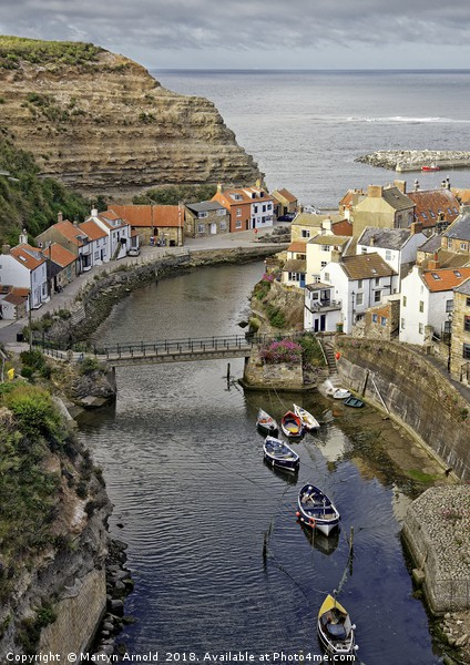 Staithes fishing village, Yorkshire Coast Canvas print by Martyn Arnold