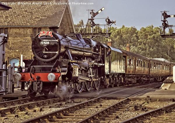 NYMR Steam Train at Grosmont Yorkshire Canvas print by Martyn Arnold