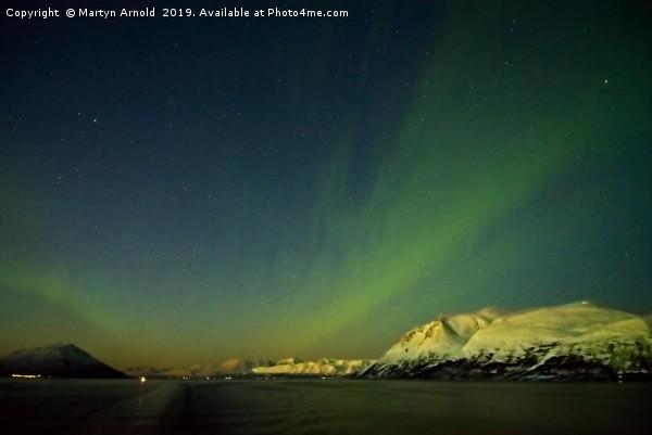 Northern Lights Aurora near Tromso in Norway Canvas print by Martyn Arnold