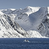 Buy canvas prints of Arctic Landscape Between Hammerfest and Oksfjord by Martyn Arnold