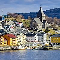 Buy canvas prints of Nordlandet Church,  Kristiansund , Norway by Martyn Arnold