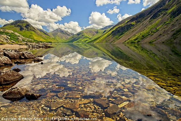 Wastwater Lake District Reflections Canvas print by Martyn Arnold