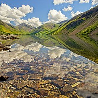 Buy canvas prints of Wastwater Lake District Reflections by Martyn Arnold