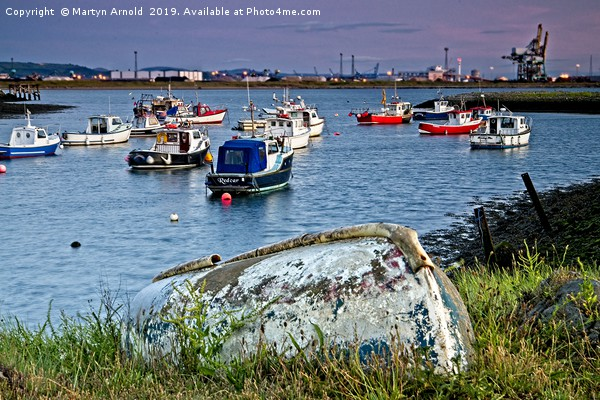 Paddy's Hole at South Gare Evening Light Canvas print by Martyn Arnold