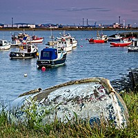 Buy canvas prints of Paddy's Hole at South Gare Evening Light by Martyn Arnold