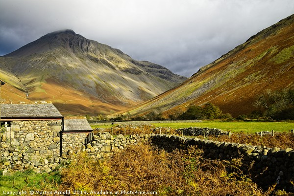 Great Gable from Wasdale Head, Lake District Canvas print by Martyn Arnold