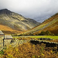 Buy canvas prints of Great Gable from Wasdale Head, Lake District by Martyn Arnold