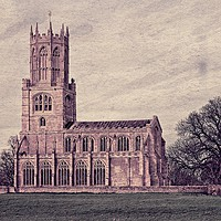 Buy canvas prints of Fotheringhay Church Northamptonshire by Martyn Arnold