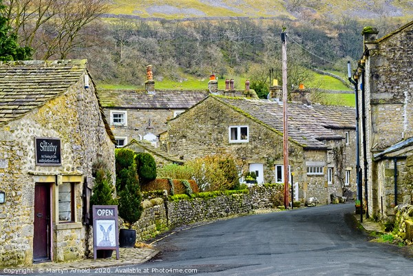 Kettlewell Village, Upper Wharfdale Canvas Print by Martyn Arnold