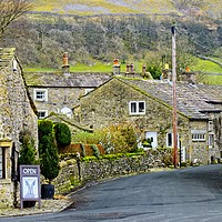 Buy canvas prints of Kettlewell Village, Upper Wharfdale by Martyn Arnold