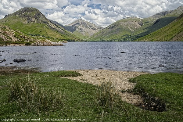 Wastwater and Great Gable, Lake District Framed Mounted Print by Martyn Arnold