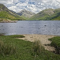 Buy canvas prints of Wastwater and Great Gable, Lake District by Martyn Arnold