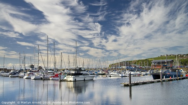 Whitehaven Marina Canvas Print by Martyn Arnold