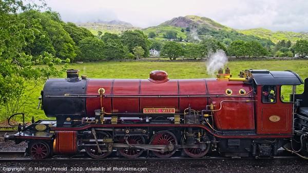 Ravenglass & Eskdale Steam Railway Canvas Print by Martyn Arnold
