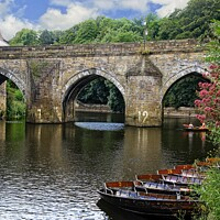 Buy canvas prints of Elvet Bridge, Durham CIty by Martyn Arnold