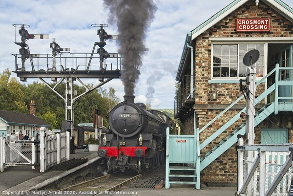 Grosmont Station - North York Moors Railway Canvas Print by Martyn Arnold