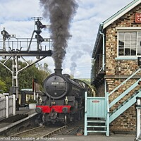 Buy canvas prints of Grosmont Station - North York Moors Railway by Martyn Arnold