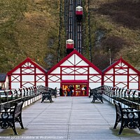 Buy canvas prints of A stroll on Saltburn Pier by Martyn Arnold