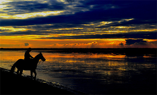 The Sunset Rider Canvas print by Jon Clifton
