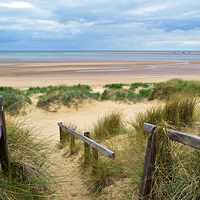 Buy canvas prints of  Brancaster Beach - Norfolk by Jon Clifton