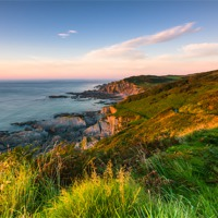 Buy canvas prints of Mortehoe Coast Path by Lee Thorne