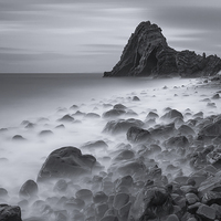 Buy canvas prints of  Black Church Rock by Lee Thorne