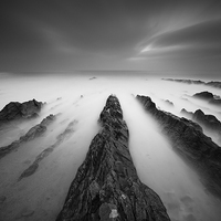 Buy canvas prints of  Low light seascape by Lee Thorne