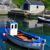 Buy canvas prints of Blue boat by Lindsay  Clarke