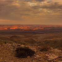Buy canvas prints of Fish River Canyon Sunset by colin chalkley