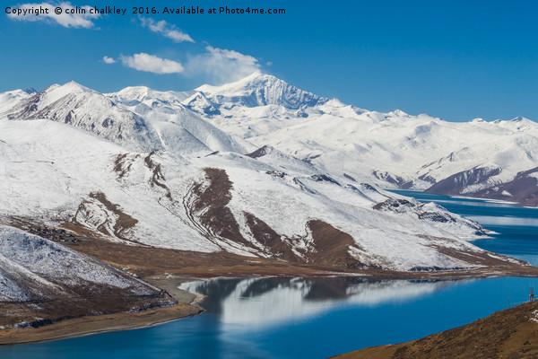 Yamdrok Lake - Tibet Canvas Print by colin chalkley
