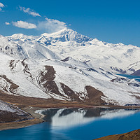 Buy canvas prints of  Yamdrok Lake - Tibet by colin chalkley
