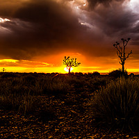 Buy canvas prints of Sunset in Fish River Canyon by colin chalkley